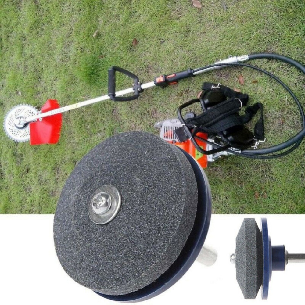New 50MM Faster Blade Sharpener For Lawn Mower Universal Grinding Rotary Drill Cutter Lawnmower Blade Sharpener Garden Tool