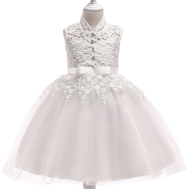 Retail Lace Tassel   Girls   Birthday   Flower     Girls     Dress   With Ribbon Belt Elegant Princess Boutiques Evening Prom   Dress   L5021