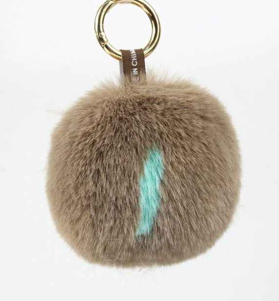 Letra J pompons De Peles Artificiais Para Chaveiros DIY Handmade Faux Fur Pompons Para chaveiro e Bolsas Acessórios