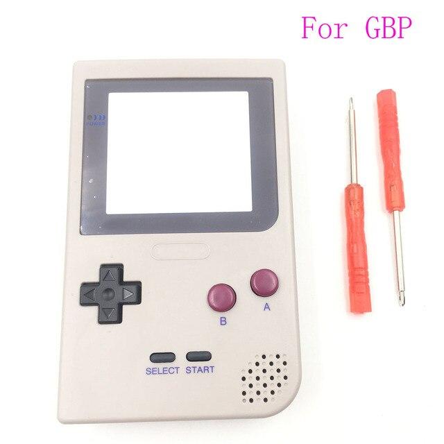 עבור DMG 01 מהדורה מוגבלת אפור מלא שיכון מעטפת כפתורים Mod תיקון עבור Nintendo משחק ילד כיס GBP
