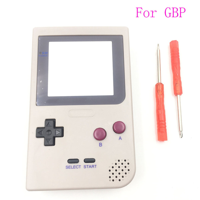 Için DMG 01 Sınırlı Sayıda Gri Tam Konut Shell Düğmeler Mod Onarım Nintendo Game Boy Cep GBP