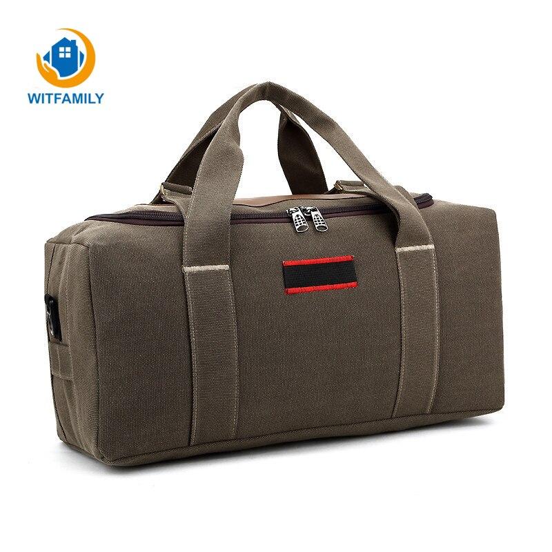 Men Women Bag Handbags Clothes Shoes Organizer Portable Shoulder Bags Large Capacity Canvas travel storage package clothes bag