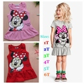 Summer 2016 Cute Vestido Minnie Casual Dress Cotton Roupas Meninas Vestir Toddler Girl Clothing Kids Clothes Baby Girls' Dresses