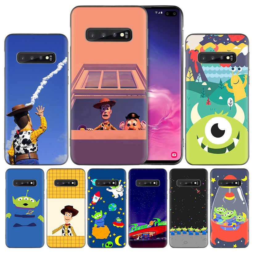 Toy Story Pizza Planet Black Silicone Case Cover for Samsung Galaxy S10 S10e 5G S9 S8 S7 S6 Edge J8 J6 J5 J4 Plus 2018