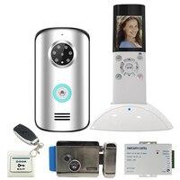 JEX 2.4G Wireless Video Intercom Door phone doorbell System KIT IP55 Waterproof IR Night Vision Camera +Electric Control Lock