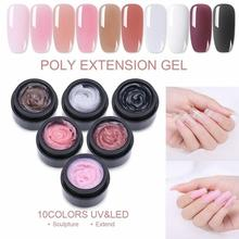 1Pc NEW 15ml Nail Quick Extension UV Gel Thick Builder Acrylic Tips Model Manicure Art Jelly Finger Building Gel Tips cecily keim crochet visual quick tips