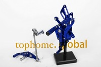 Free Shipping Motorcycle Blue CNC Rearsets Foot Pegs Rear Set For Yamaha YZF R1 2009 2014 2010 2011 2012 2013