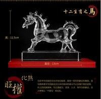 Twelve Zodiac Horse Crystal Animal Figurine Friend Birthday Souvenir Christmas Gift Child Crystal Crafts Home Decor