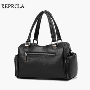 Image 4 - REPRCLA Luxury Women Bag Designer Leather Handbag Fashion Pillow Shoulder Bags Crossbody Female Tote Hand Bags Brand Bolsos