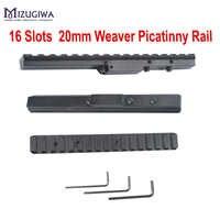 Mizugiwa 1pc Alumium Alloy 16 Slots Picatinny Weaver Rail Scope Mount For Mosin Nagant M44 91/30 M38M39Hunting Rifle Gun Weaver