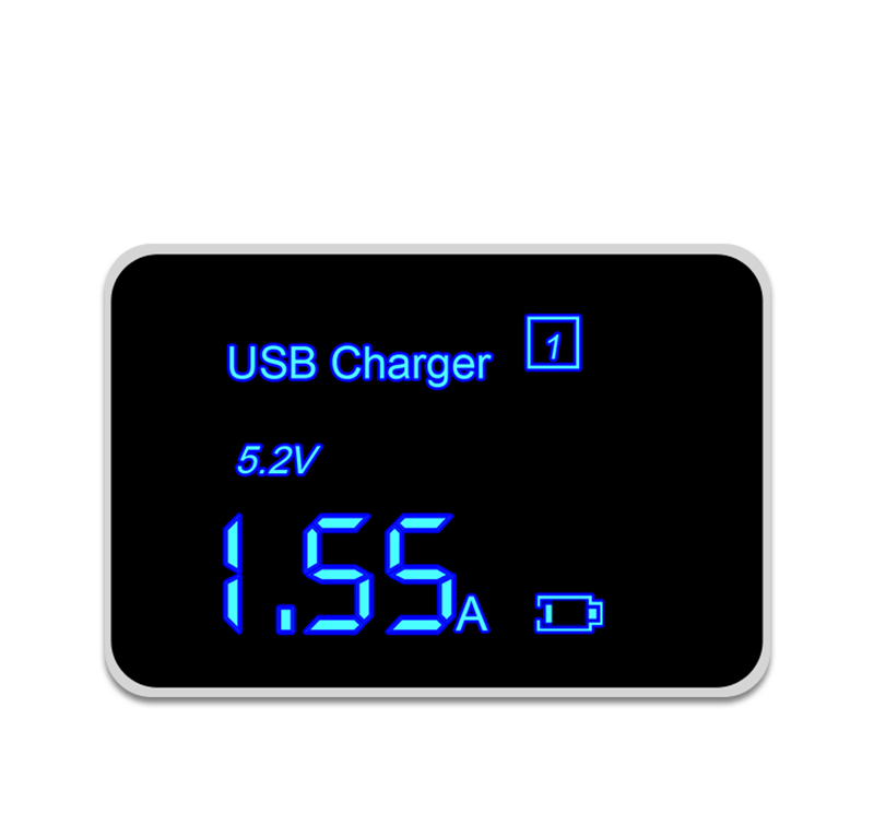 Thbelieve 3 USB Multi Charger 5V 2.4A USB Type C Desktop Chargers Mobile Phone USBC Charging LED Digital Chargers For Tablet (16)