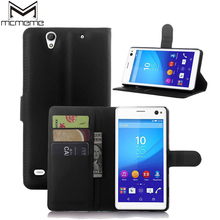 MCMEME Coque Wallet PU Leather Case For Sony Xperia Z1 Z2 Sony Z3 Z4 Z5 T3 M4 Aqua M5 E4 E4G C3 C4 C5 Cover Shell Card Holder