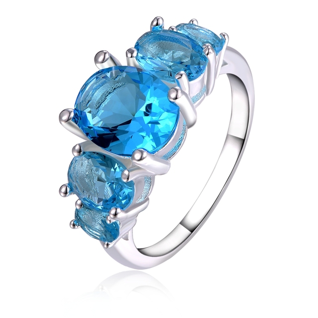 Trendy High Quality Silver Plated Charm Ring