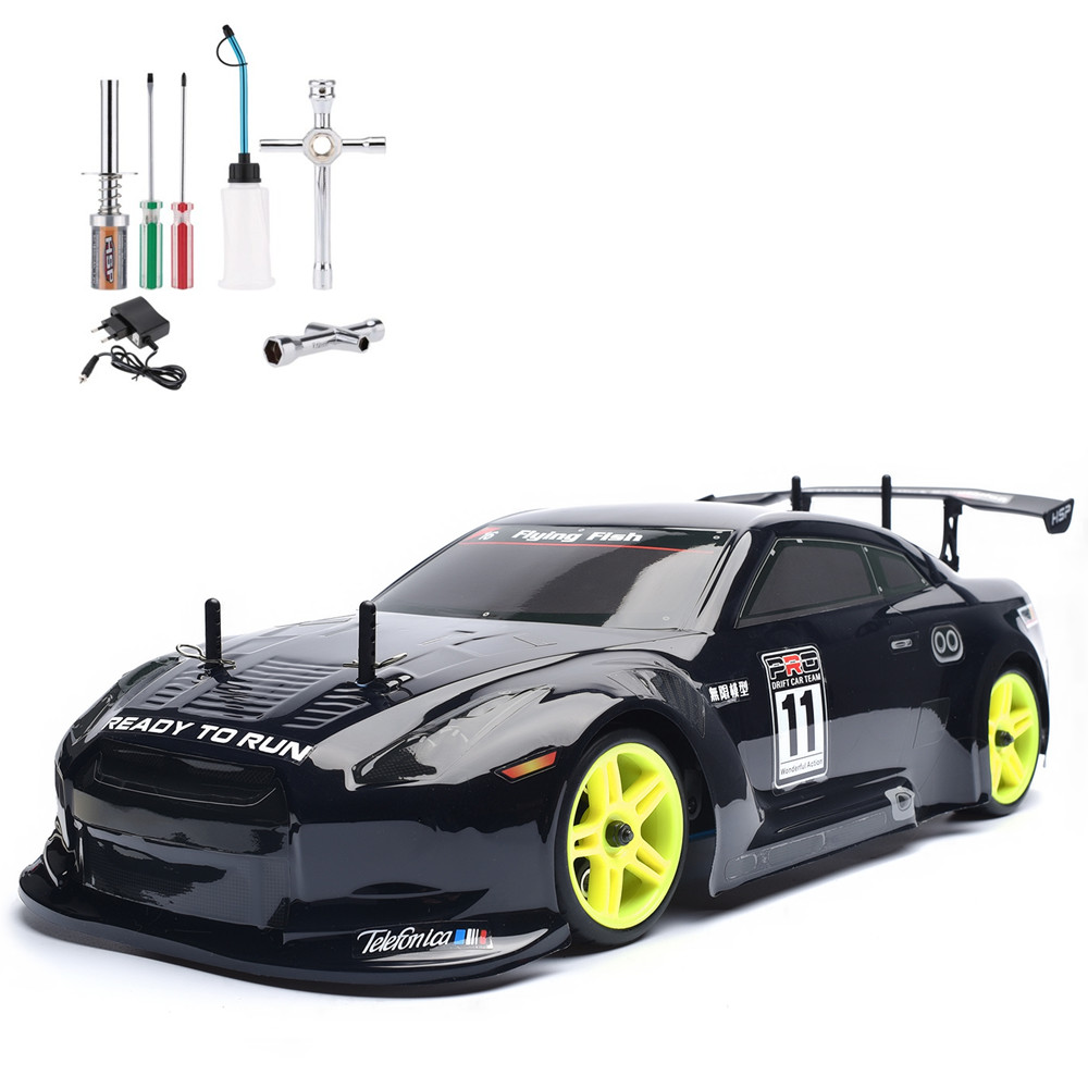HSP Rc Car 4wd 1/10 Scale Models On Road Touring Racing Nitro Gas Power Rc Drift Car 94122 High Speed Hobby Remote Control Car 02023 clutch bell double gears 19t 24t for rc hsp 1 10th 4wd on road off road car truck silver