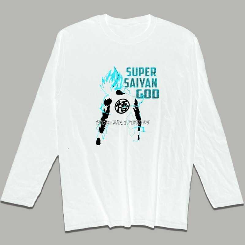 Новый Гоку Супер Saiyan футболка Для мужчин хлопок o-образным вырезом футболка с длинными рукавами Аниме Драконий жемчуг Z рубашки хип-хоп Футболки-топы Harajuku