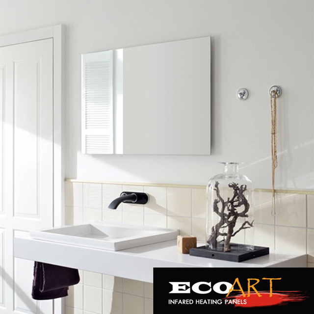 Eco Art 450W Comfort Waterproof wall mounted Electric Radiant Mirror Heaters  for Bathroom. Eco Art 450W Comfort Waterproof wall mounted Electric Radiant