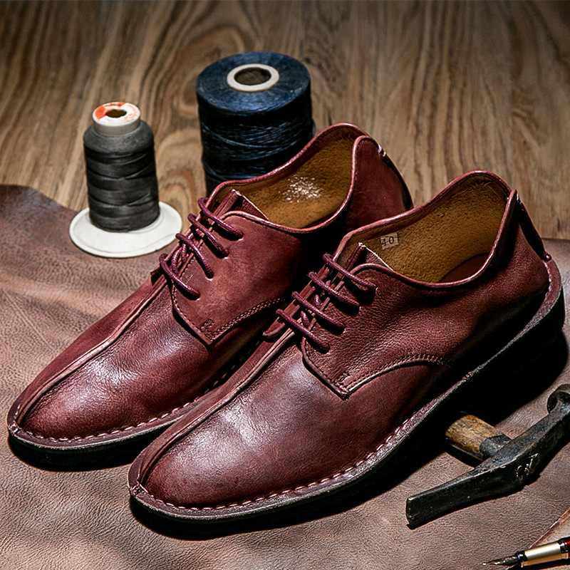 wein Schwarzes Mycolen Handmade Leder Formales Homme Soulier Mode Schwarz Männer Marke up Lace brown rot Schuhe Casual Herbst Business wZrwTFnCq