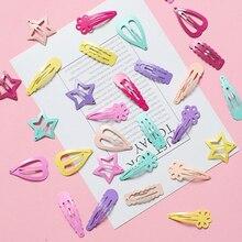 6 шт./партия, новинка, металлическая заколка для волос, милая мультяшная форма, BB заколки для девочек, заколки для волос, детские головные уборы, Детские аксессуары-заколки для волос для детей