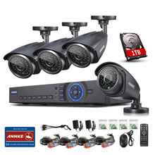 ANNKE 4CH HD 720P DVR Outdoor Day&Night CCTV Home Security Camera System 1TB