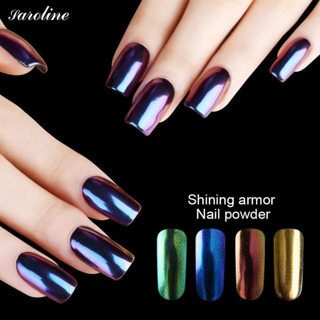 Bling Glitter Mirror Powder Metallic Effect Dust Chrome Pigment Shinning Nail Art Lasting Acrylic