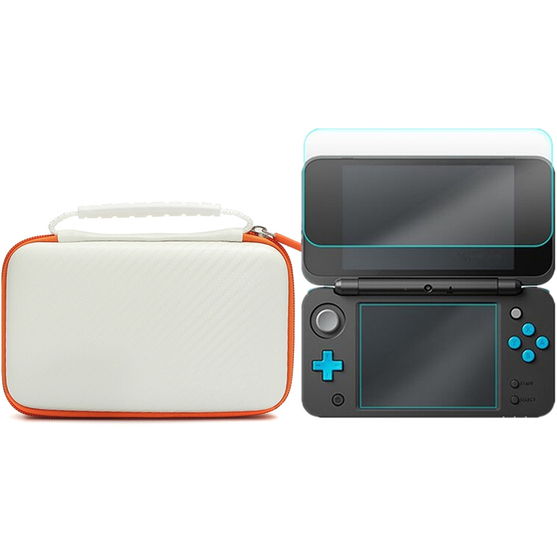 все цены на 3 In 1 Accessory Set For New 2DS LL With White EVA Carrying Case Bag + Screen Protector + Stylus Set For Nintendo New 2DS XL/LL онлайн