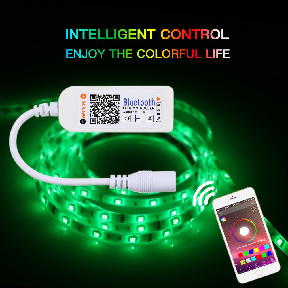 Image 2 - Mini Bluetooth/Wifi LED Controller Remote For 5050 3528 RGB/RGBW LED Strip Light 2018 New Arrival Hot Sale-in RGB Controlers from Lights & Lighting