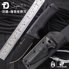 ( HX OUTDOORS ) Hunting Knife Outdoor D2 Steel Small Straight Knives Rescue Survival Camping Knife Edc tool With K sheath