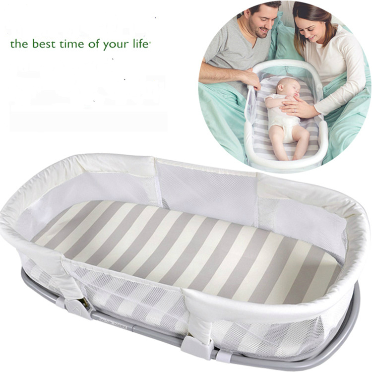 Multifunctional Baby Bed Folding Baby Crib Travel Bed