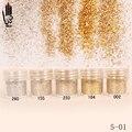 1 Jar/Caja 10 ml Del Arte Del Clavo de Plata Champán Oro Color de Uñas Fino Polvo del brillo Para El Arte Del Clavo Decoración 300 Colores Opcionales 5-01