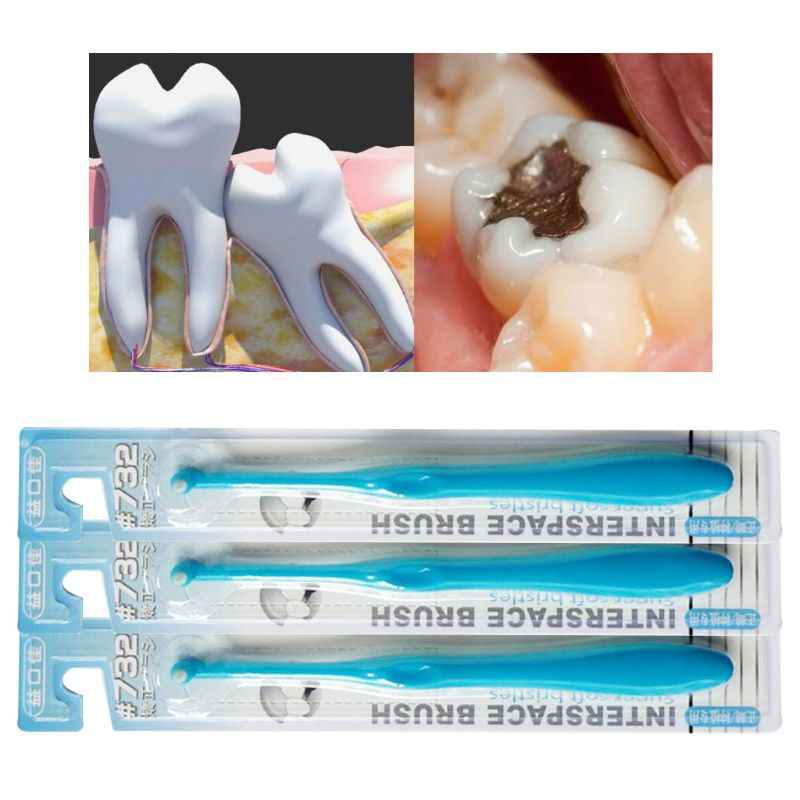 Przez jedno niewielkie międzyzębowe przestrzeni wewnętrznej szczotka stożkowe wykończenia szczoteczka do zębów przenośne Stain Eraser usuwania płytki nazębnej narzędzie do czyszczenia zębów