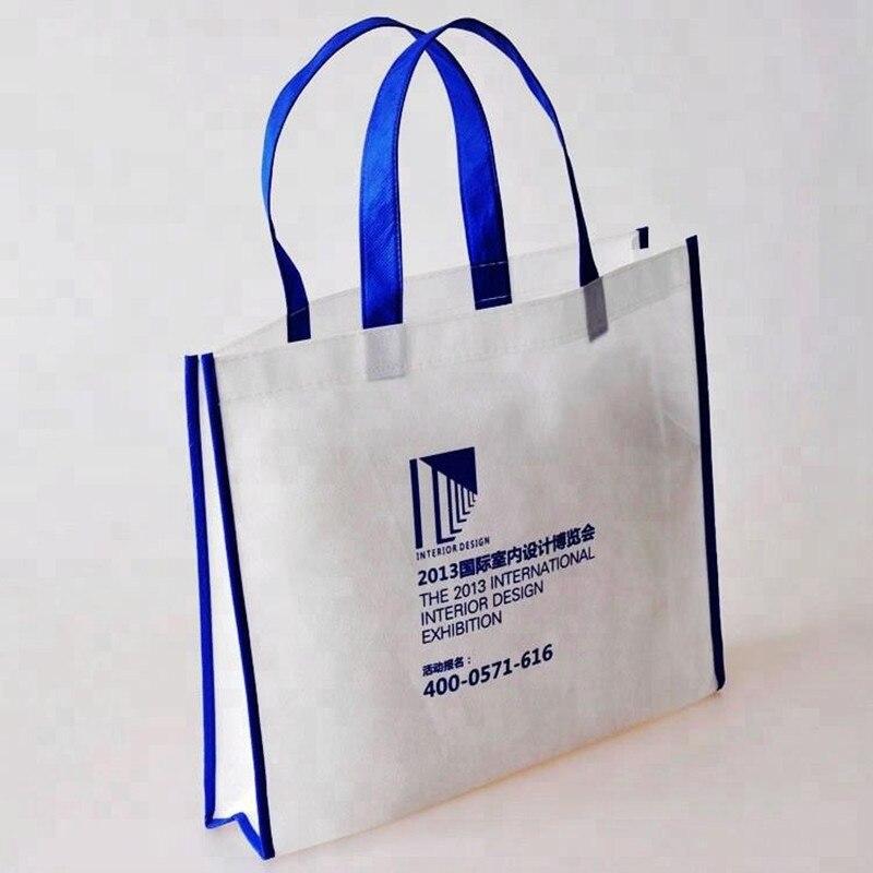 2018 Großhandel 500 Teile/los Umweltfreundliche Reusable Taschen Non Woven Einkaufstaschen Können Custom Unternehmen Logo Für Ad Um Eine Reibungslose üBertragung Zu GewäHrleisten