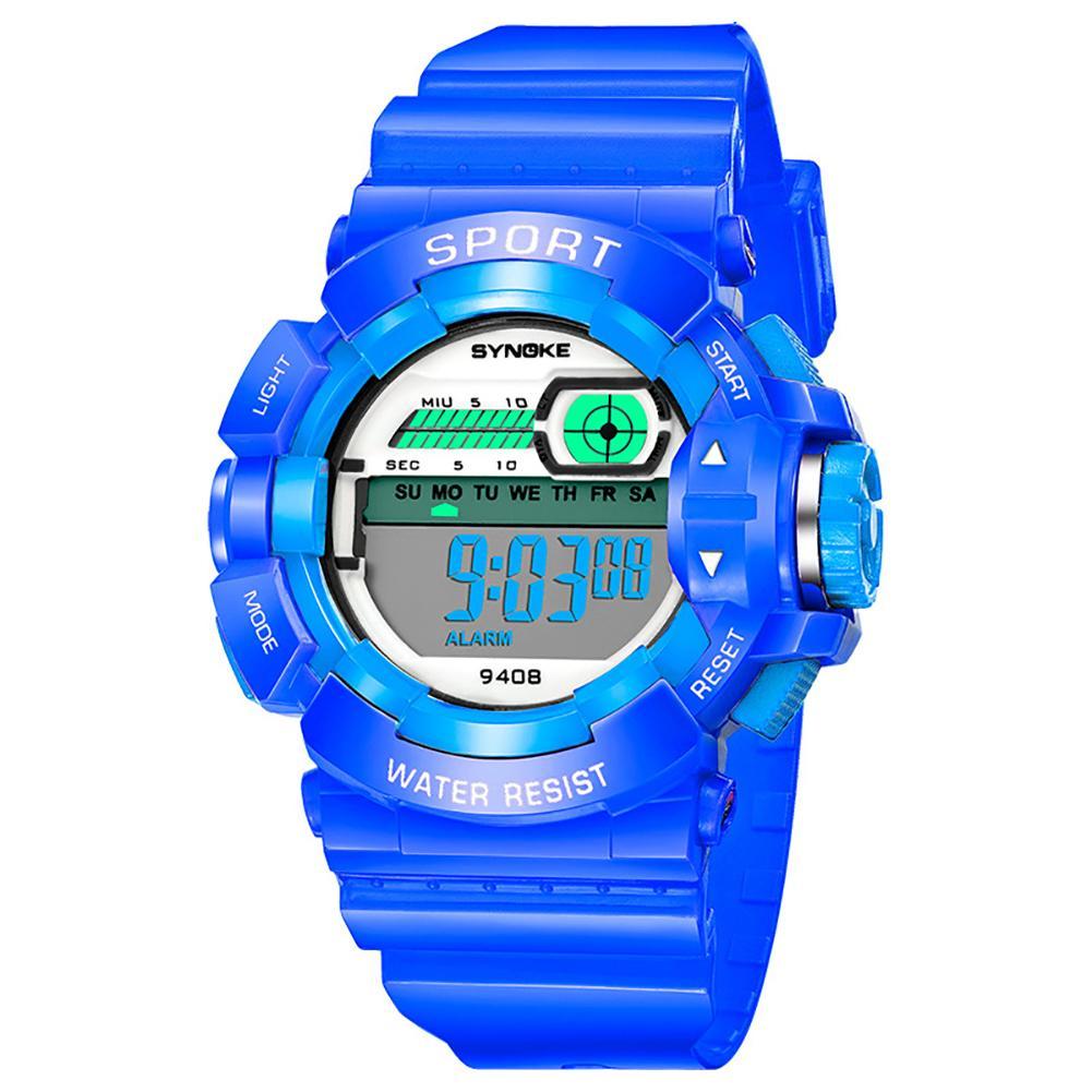 Outdoor Sport Kids Boy Girl Digital Alarm Weekday Stopwatch Luminous Wrist Watch Hourly Chime Relogio