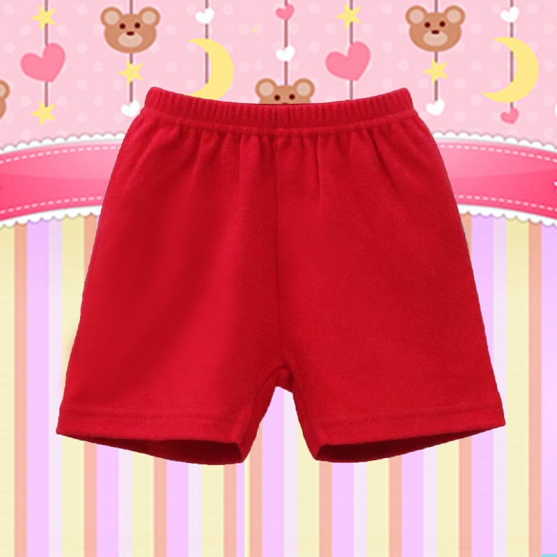 Pure Cotton Baby Christmas Shorts Boys And Girls Summer Bottoms Children Clothes Elastic Waist Clothing