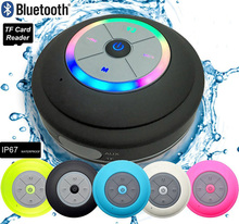 Portable Shower Waterproof Speaker Mini Subwoofer Wireless LED Bluetooth Speakers for phone MP3 Bluetooth Receiver Caixa De Som