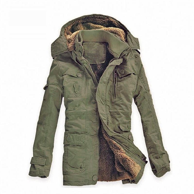 Мужская зимняя куртка теплое пальто парка Мужская теплое пальто парка утолщение Повседневная хлопковая стеганая дышащая куртка брендовая ...