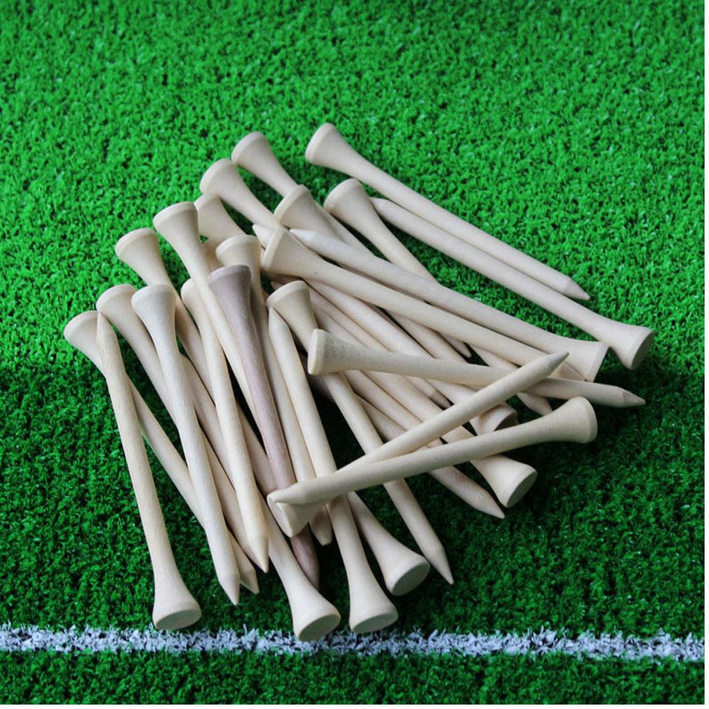 50pcs/lot 83mm Golf Ball Wood Tee Tees Wooden Brand New Golf Accessories
