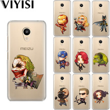 VIYISI Cartoon Marvel For Meizu M6 5 Note Phone Case Cover M5S 5C M3s 3 Pro6 U10 U20 Soft Silicone TPU Back Coque Shell