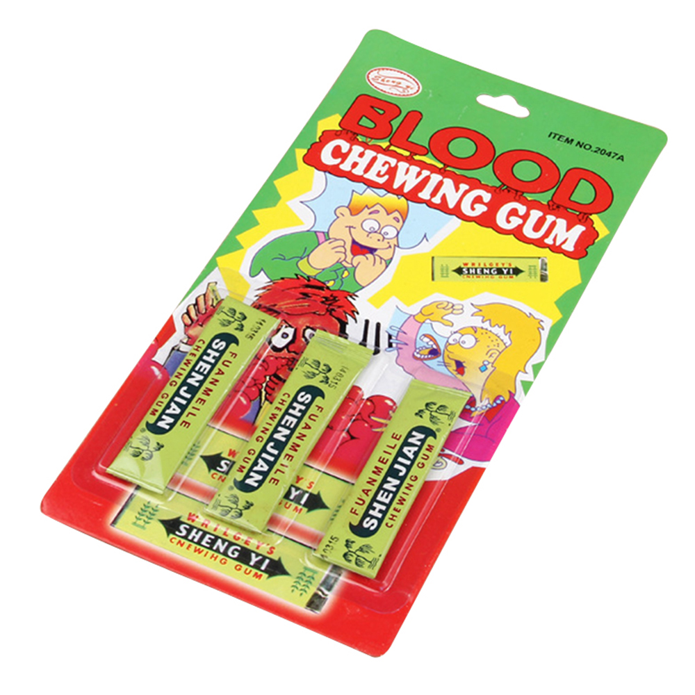 Fools Day Tricks Toys Chewing Gum Bleeding Blooding Spoofing Scary Pranks Joke