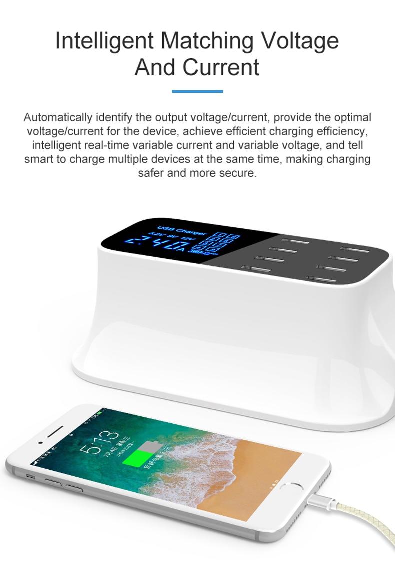 Universal 8 Ports Smart USB Charger Station Hub Led Display charger (11)