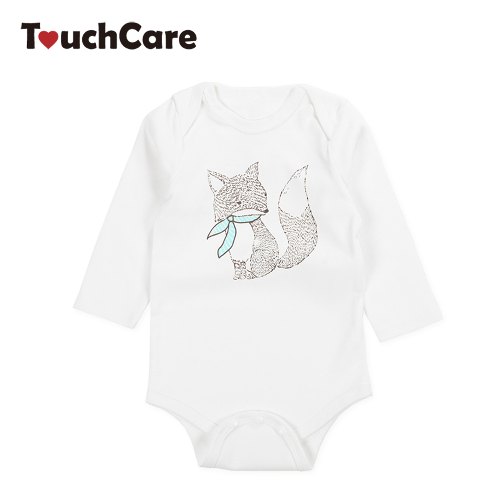 Infant Cute Cartoon Animal Fox Printed Baby Boys Girls Rompers Newborn Soft Cotton Kids Jumpsuit Long Sleeve Toddler Clothes infant cute cartoon dinosaur baby boy girl rompers soft cotton car printed long sleeve toddler jumpsuit kids clothes