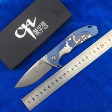 CH3504Flipper folding knife S35VN blade titanium alloy handle camping outdoor fruit knife EDC tool цена 2017