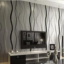 No tejido wallpaper Rollo Moderno Estilo Simple Rayado Superficial No Tejido de papel de pared 3D Fondos de escritorio papel de parede 0.53 m * 10 m