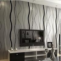 Non Woven Wallpaper Roll Modern Simple Style Surface Striped Nonwoven Wall Paper 3D Desktop Wallpaper Papel