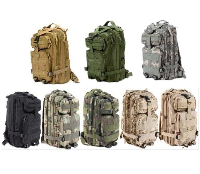 Nouveaux hommes Sports de plein air Camping sac à dos militaire 3 P assaut MOLLE Bug Out petit sac à dos chasse armée Combat voyage escalade sac