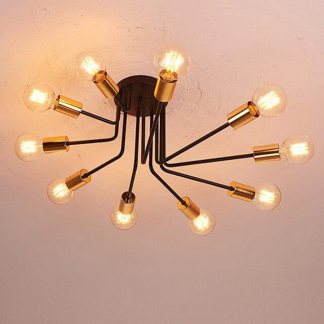 Plafonniers Vintage Lampes Pour moderne Salon chambre foyer Plafonnier luminaria de teto e27 clairage La Maison.jpg 640x640 5 Superbe Plafonnier Salon Moderne Gst3