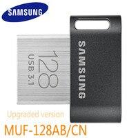 Samsung Mini Usb Flash Drive Metal Disk On Key Clef Usb 3.1 128gb Pendrive Up To 200mb/s Fit/ab Memoria Usb 3.0