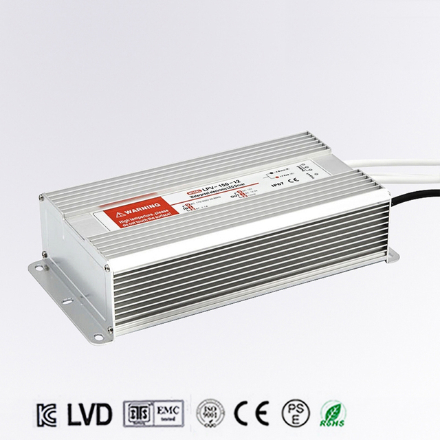 DC 12V 150W 12.5A Waterproof IP67 Electronic LED Driver outdoor use power supply led strip transformers adapter,Free shipping