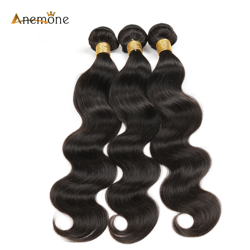 Malibu Dollface Recommend Anemone Hair Products Brazilian Body Wave Human Hair Extensions 3 Bundles 8- 30 inch Remy Hair Weaves