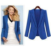 ea2cb88a85 2019 vestido Chaqueta slim Negro Azul traje pequeño traje de ropa de mujer