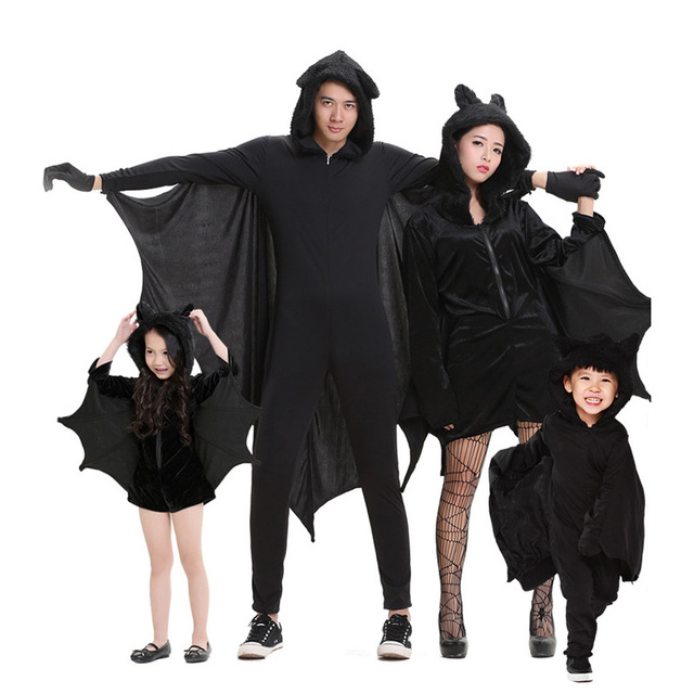 Halloween Cosplay Bat Clothes Mother and Daughter Father Son Costumes Family Matching Outfits Children Jumpsuit Stage  sc 1 st  AliExpress.com : father and daughter halloween costumes  - Germanpascual.Com